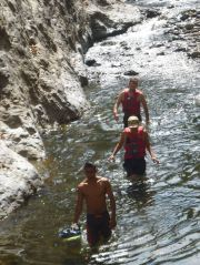 Wading through the Somoto Canyon